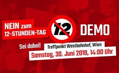 Demo gegen den 12-Stunden-Tag und die 60-Stunden-Woche